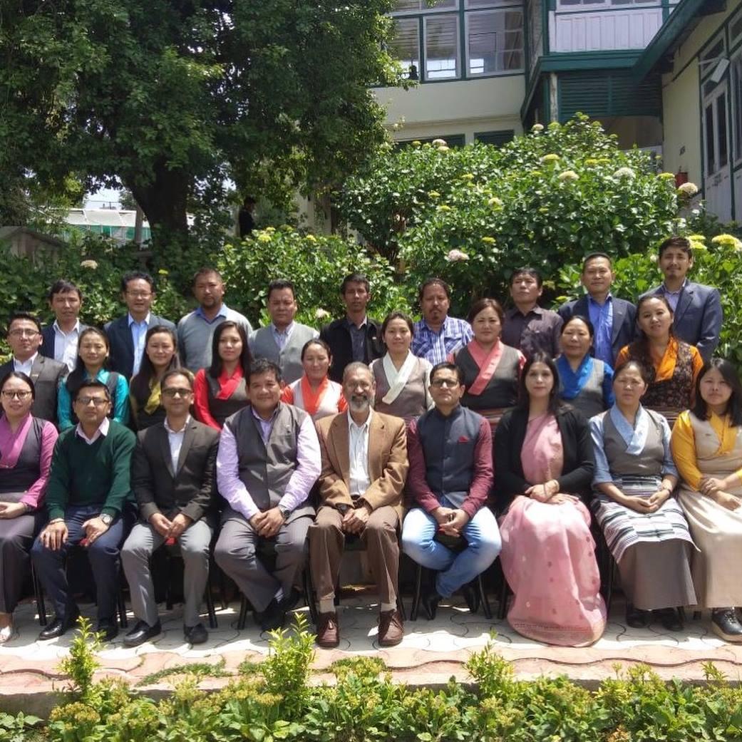 Mr. Thinley Umawa with CTA staff during the capacity building workshop at HIPA, Shimla.