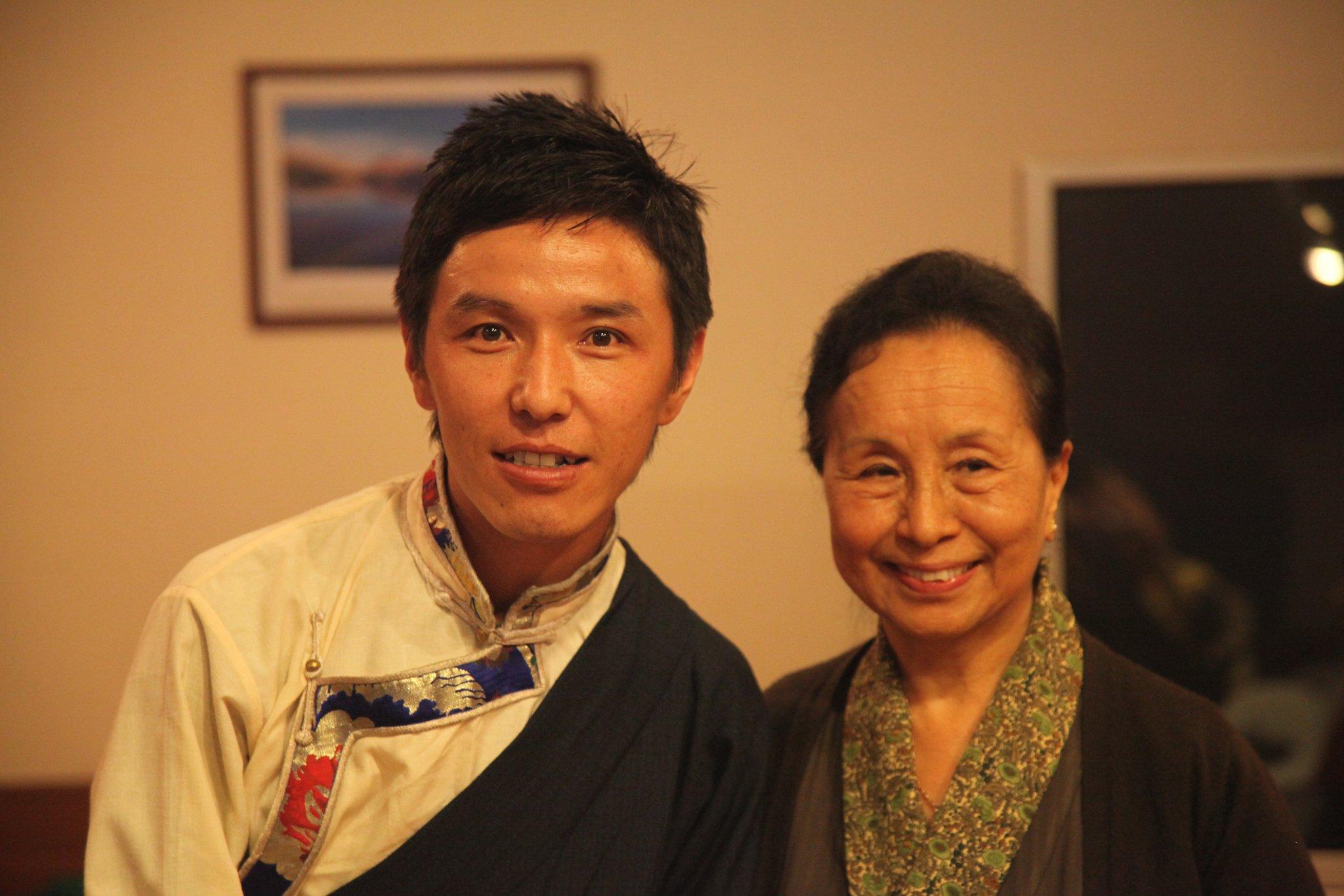 Mr. Thinley Umawa with DIIR Kasur Kelsang Yangkyi Taklha.