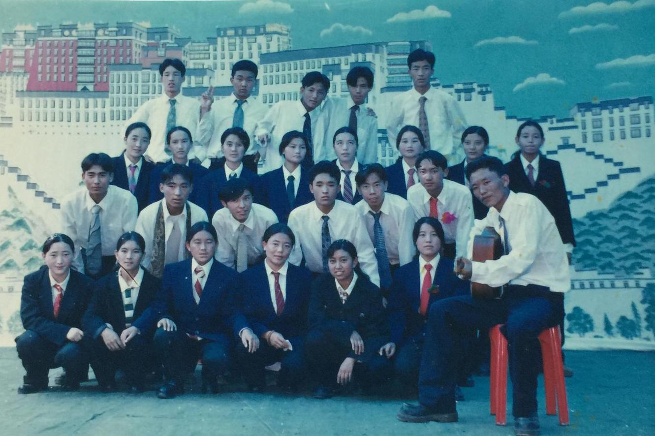 Mr Thinley Umawa with his class mates at TCV Suja.
