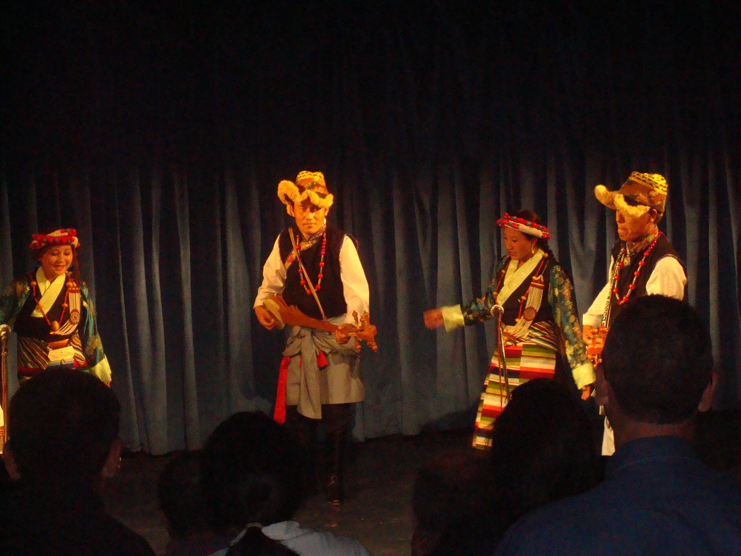 Nyima Gyaltsen taking part in Cultural Program in Italy as part of educational tour in 2009.